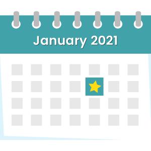 social media content calendar jan 21